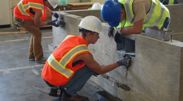 CTEC construction students