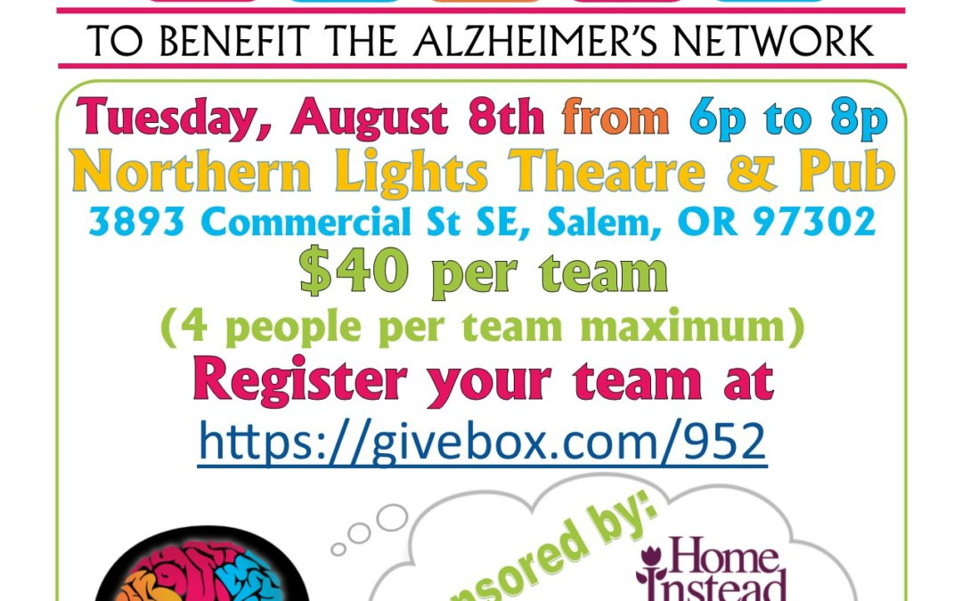 Trivia Night Fundraiser Presented by Home Instead Senior Care to Benefit The Alzheimer's Network