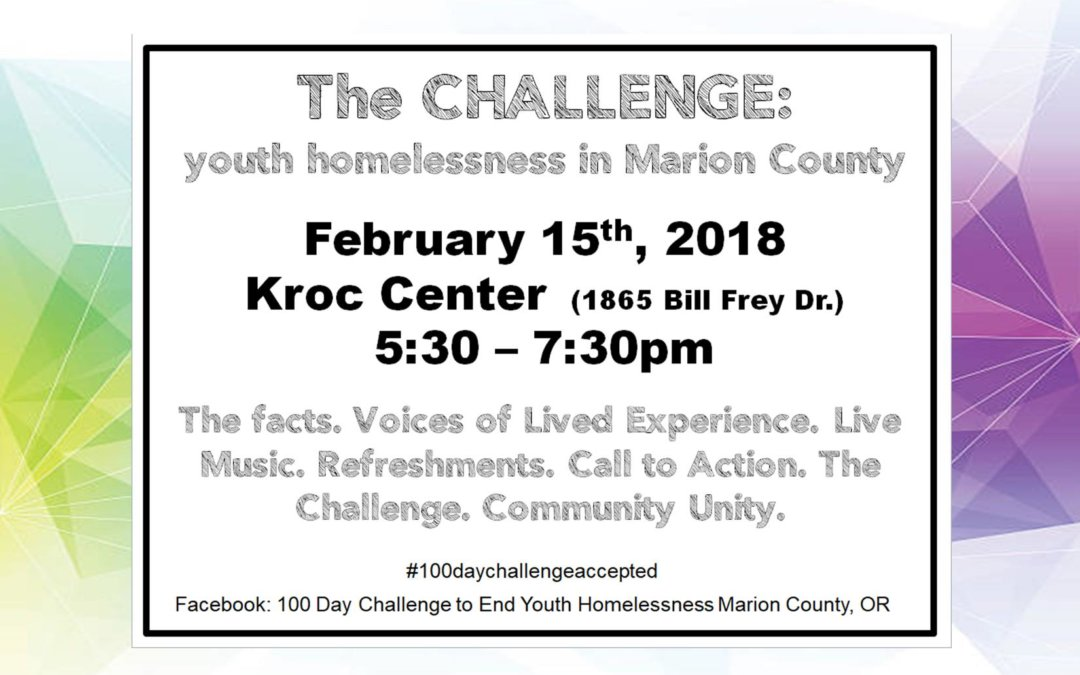 the CHALLENGE: youth homelessness in Marion county